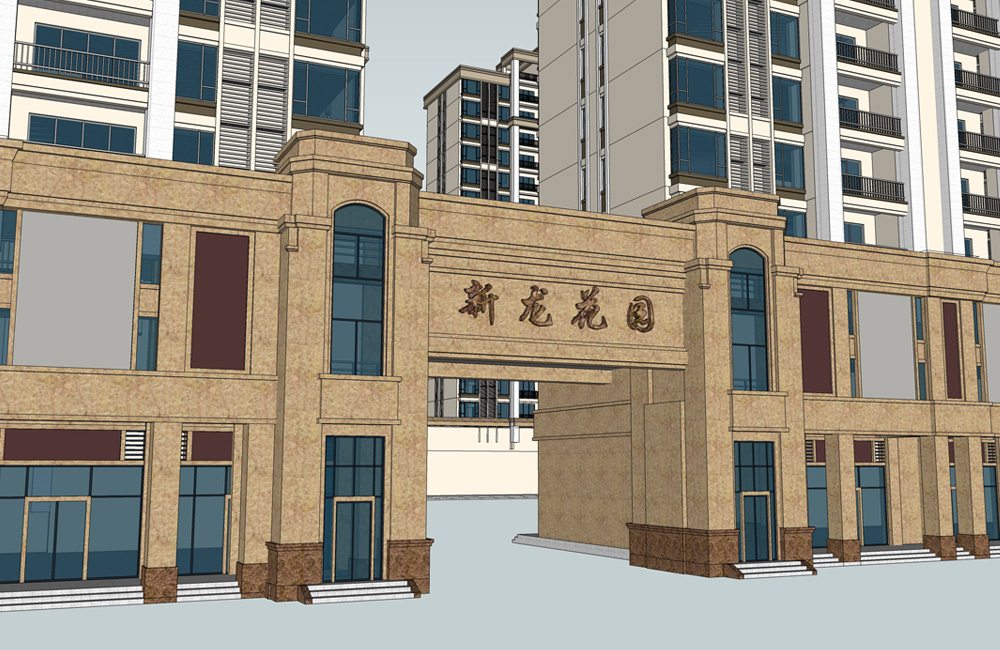 Heping Xinlong community Xinyuan apartment (main entrance of the gate)